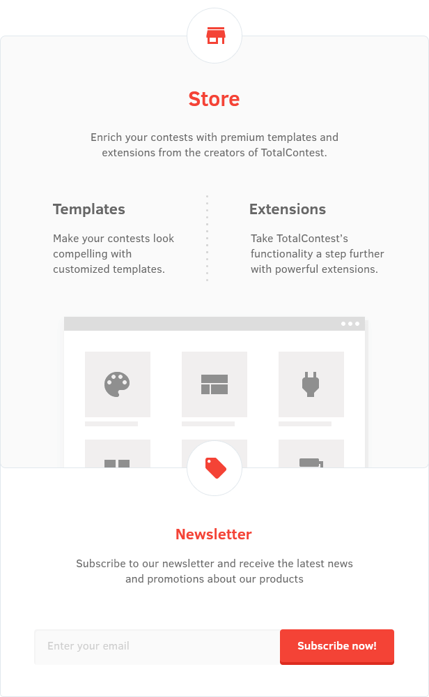 Store in TotalContest WordPress contest plugin: Templates and extensions.