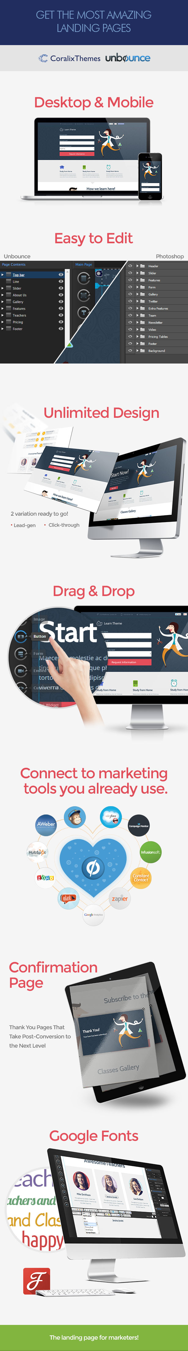 Learn - Unbounce Education Classes Landing Page - 1