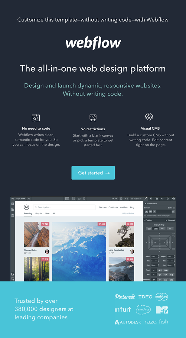 webflow product intro