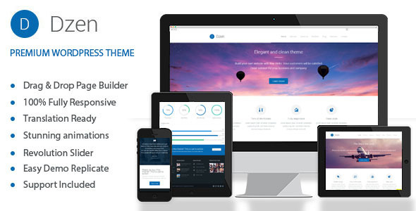 Dzen - Multipurpose Business Parallax WP Theme