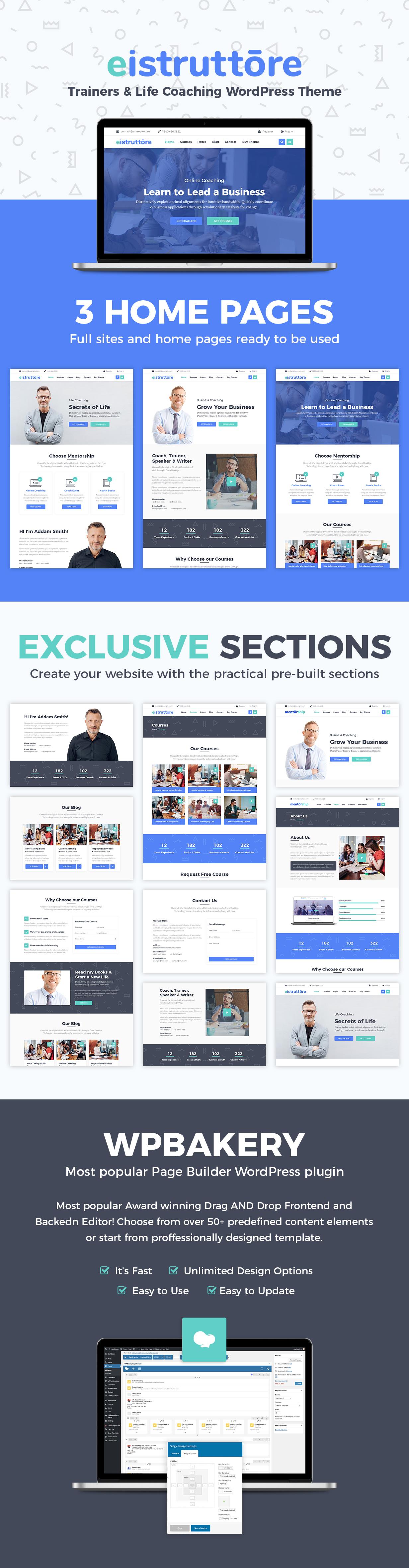 Eistruttore - Speaker and Life Coach WordPress Theme - 2