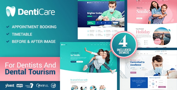 DentiCare - WordPress Theme for Dentist & Dental Clinic - Health & Beauty Retail