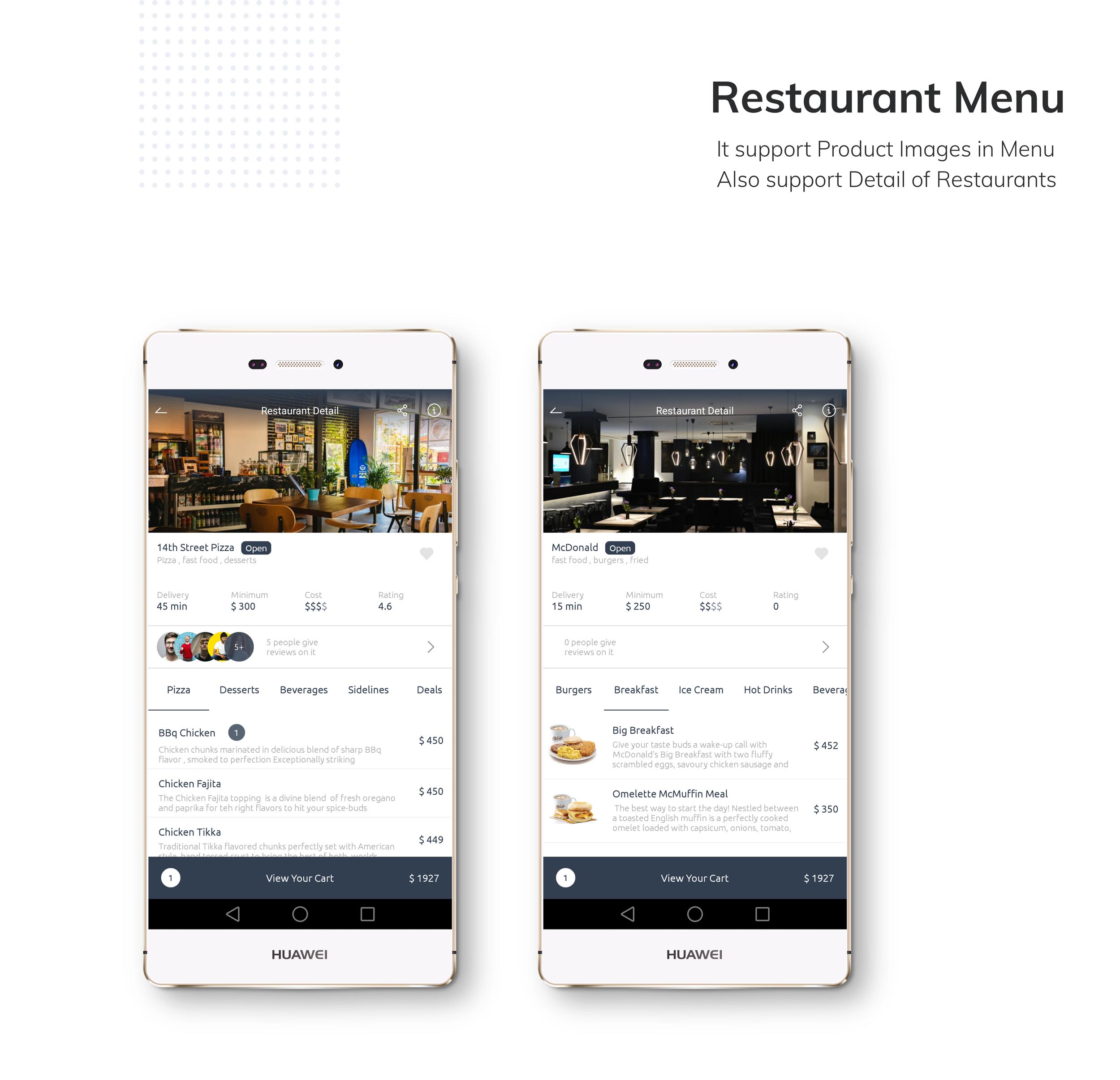 Restaurante App de entrega de comida com entregador - 4