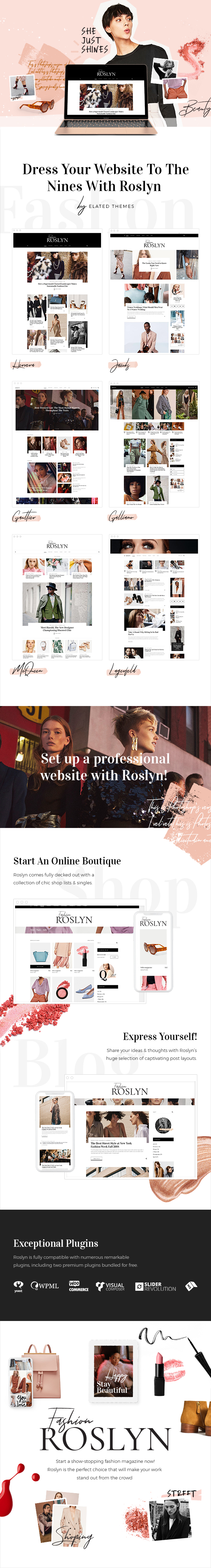 Roslyn - Fashion and Lifestyle Theme for Bloggers and Magazines - 1