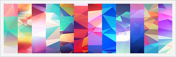 12 Light Leak Polygonal Background Textures #2