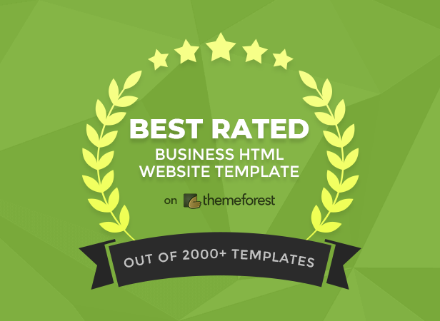 Best Rated Business HTML Website Template on Themeforest
