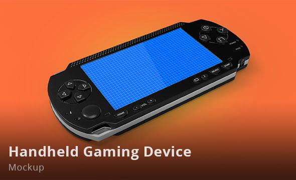 Handheld PSP Vita Gaming mockup