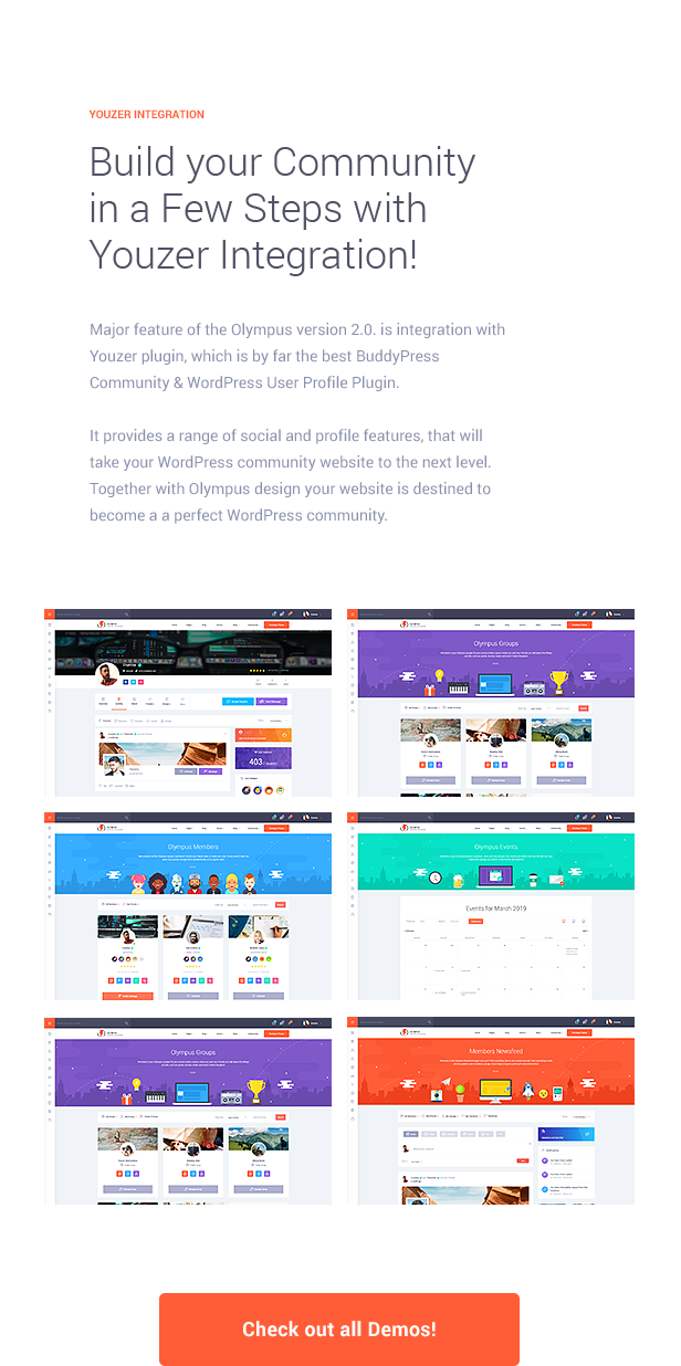 Olympus - Responsive Community & Social Network WordPress Theme