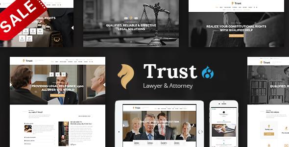 Trust - Lawyer & Attorney Business Drupal 8 Theme