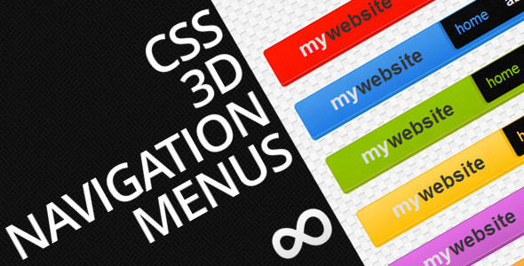 CSS 3D Navigation Menus