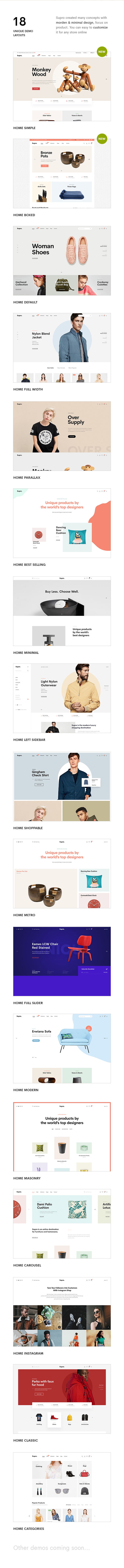 Supro - Minimalist AJAX WooCommerce WordPress Theme - 9