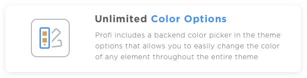 Profi WP Unlimited Color Options