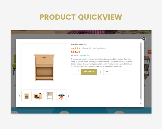Responsive Furniture WooCommerce WordPress Theme Quick view