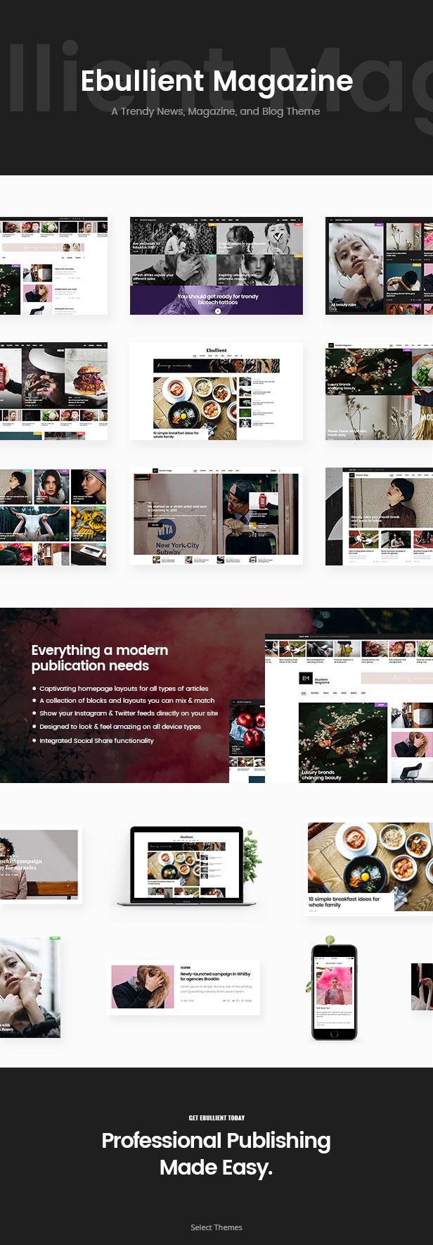 Ebullient - Modern News and Magazine Theme - 1