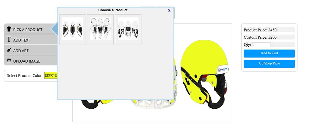 WooCommerce Custom Super Bowl Helmet Designer - 10