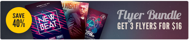 Electro Party Flyer Bundle Vol.06