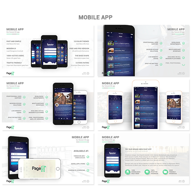 PageZ Multipurpose Presentation - Mobile App
