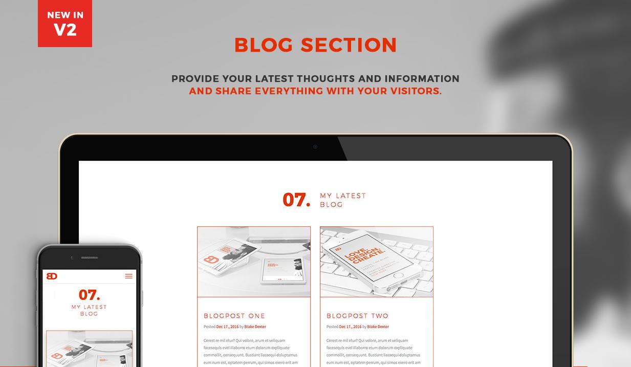 BlakeD - Portfolio & Resume Template - 12