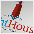 Lighthouse business solutions logo template