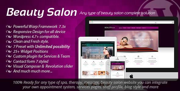 Beauty Salon - Responsive WordPress Template - Health & Beauty Retail
