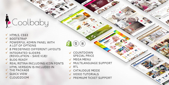 Coolbaby - creative shopify theme