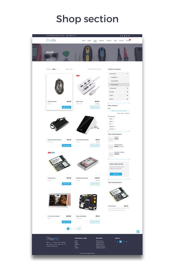 ProFix - Computer & Mobile Phone Repair Service Company + Shop HTML5 Template - 2