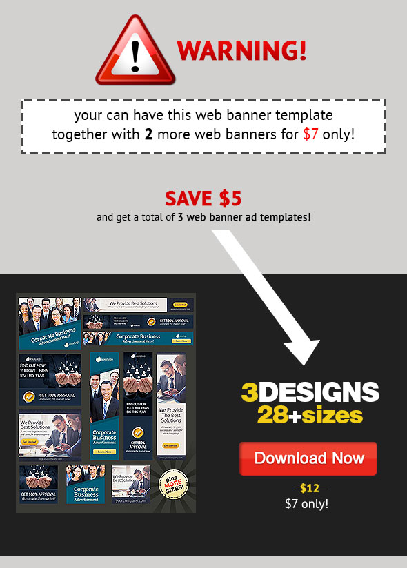 web banner design bundle