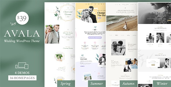Avala - Wedding WordPress Theme
