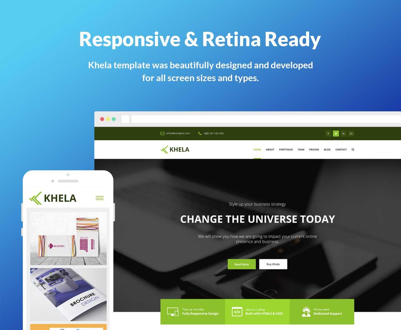 Khela   Business, Portfolio, App Landing Page Template - 5
