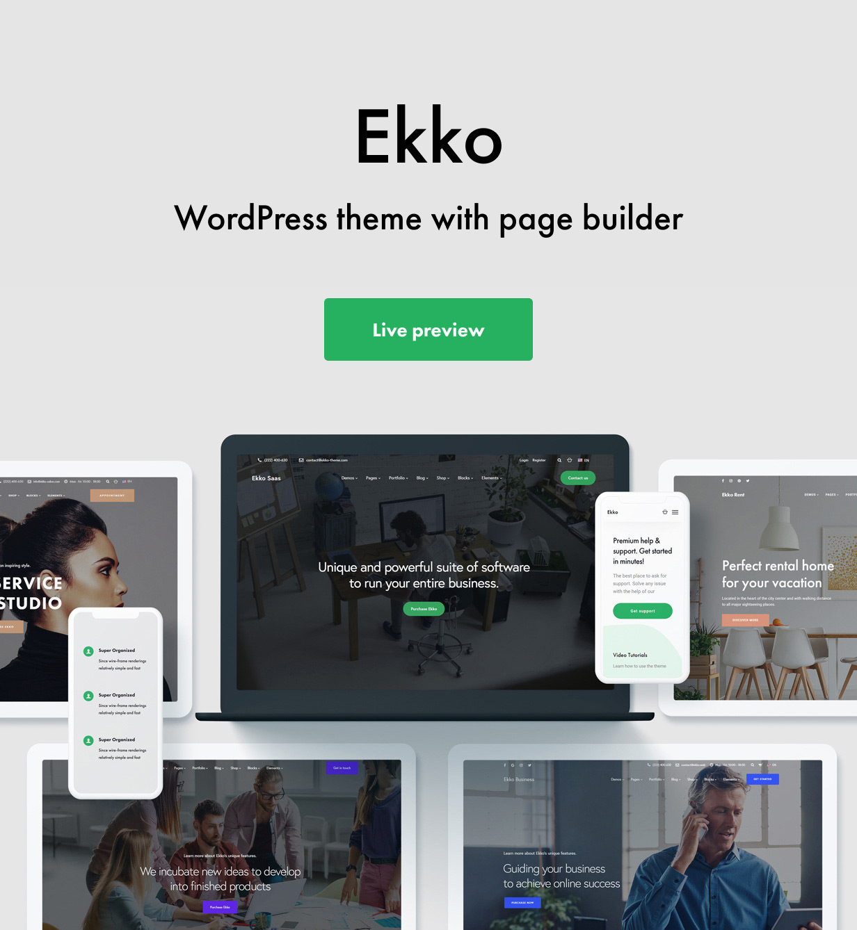 Ekko - Multi-Purpose WordPress Theme with Page Builder - 1