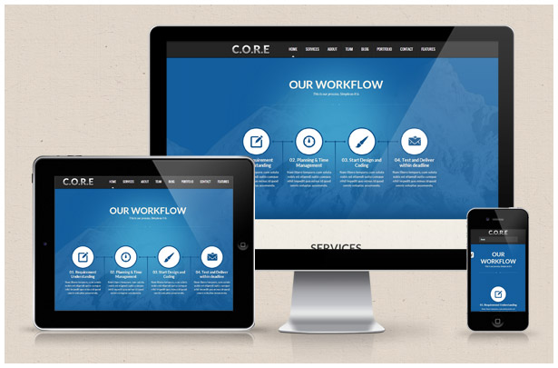 Core - One Page Responsive HTML5 Template - 4