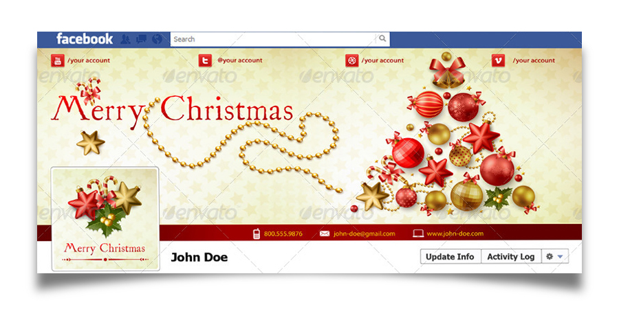 Christmas Real Estate Twitter Cover - 3