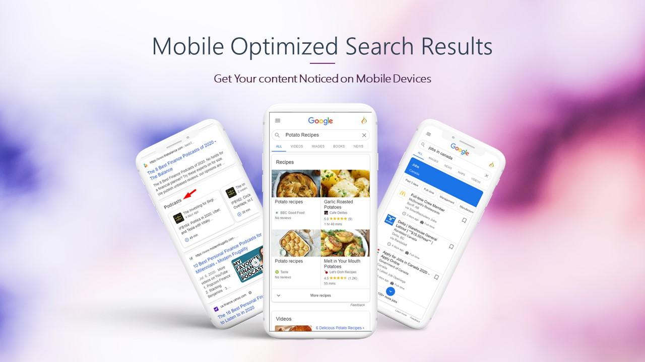 Mobile Optimized SERP