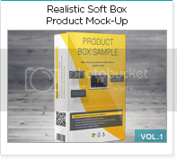 realistic soft box product mock-up