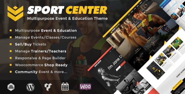 Wordpress Sport center theme