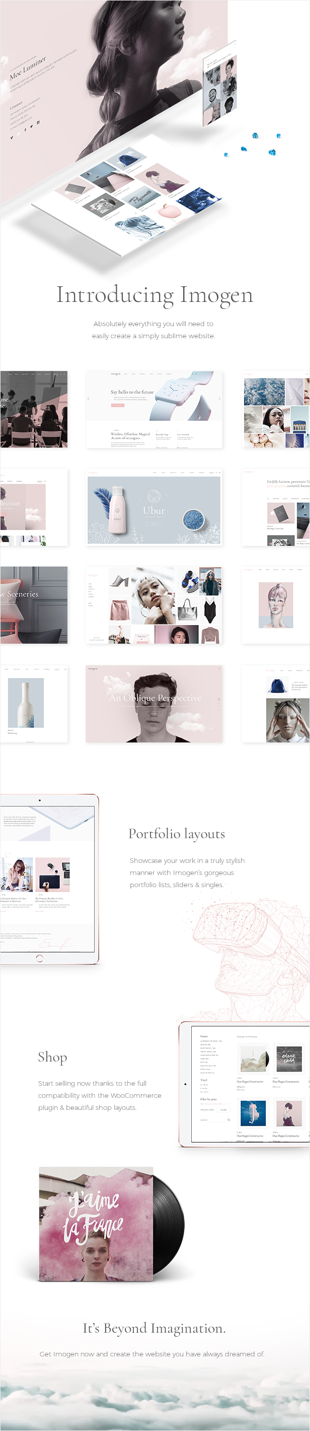 Imogen - An Elegant Theme for Designers and Creative Businesses - 1