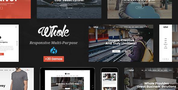 Whole - Responsive Multi-Purpose Drupal 8 Theme