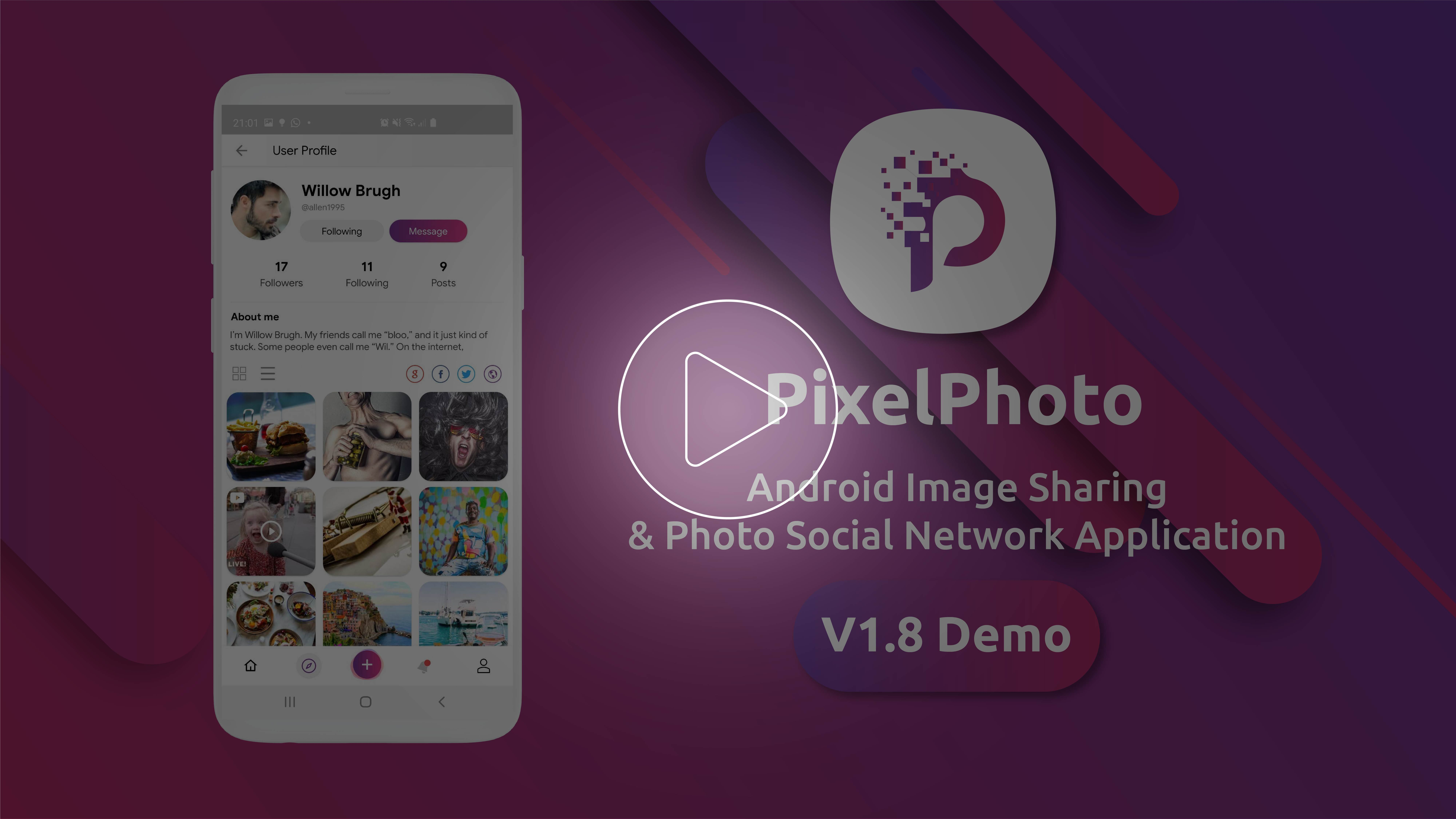 PixelPhoto Android- Mobile Image Sharing & Photo Social Network Application - 3