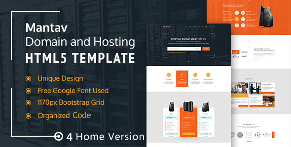 Domain & Hosting Business- Mantav HTML5 Template - Technology Site Templates