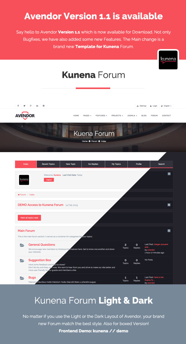 AVENDOR - Responsive Multi-purpose Joomla Template - 2