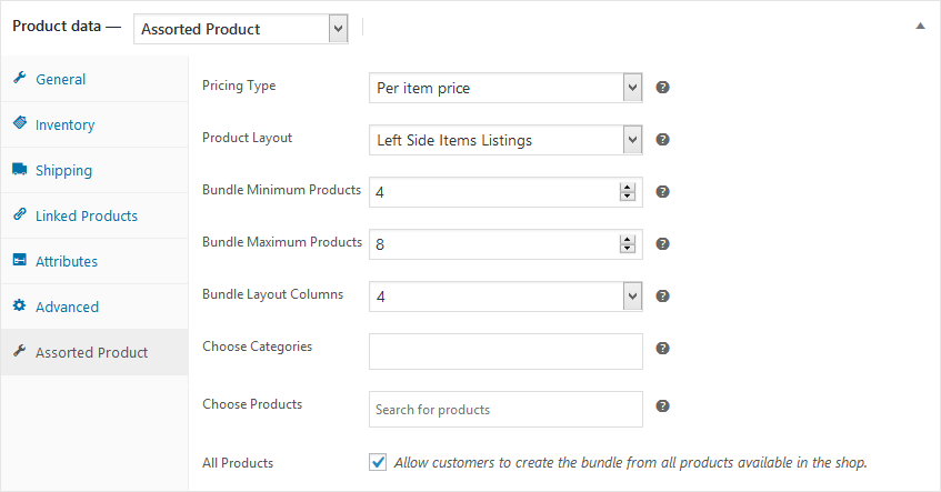WooCommerce Assorted Bundle Products Plugin - 1