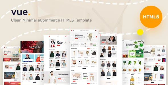 Vue - Clean Minimal eCommerce HTML5 Template