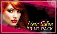 Hair Salon complete print template pack