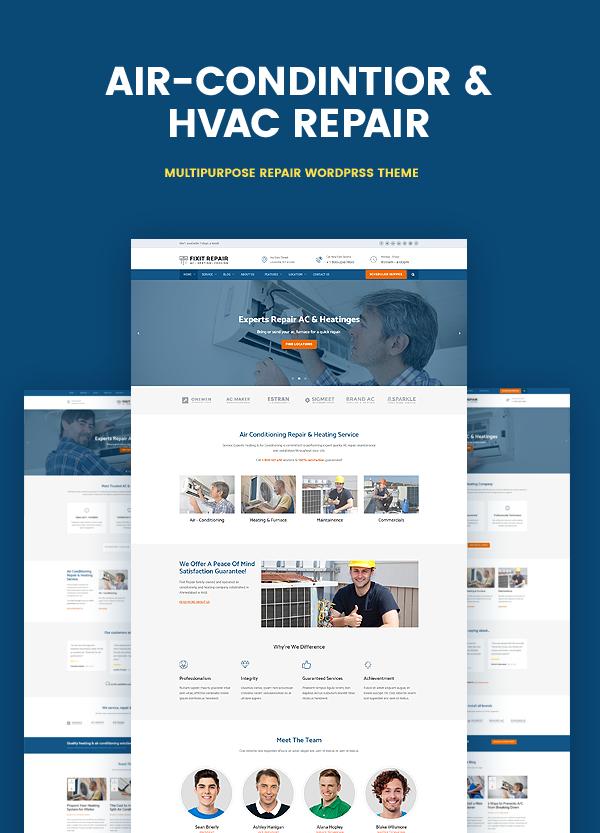 Air conditioner & HVAC Repair WordPress theme