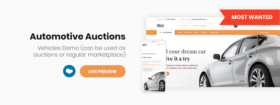 iBid - Multi Vendor Auctions WooCommerce Theme - 5