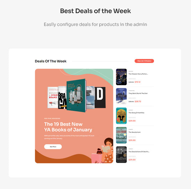 Best Deals of the Week Easily configure deals for products in the admin