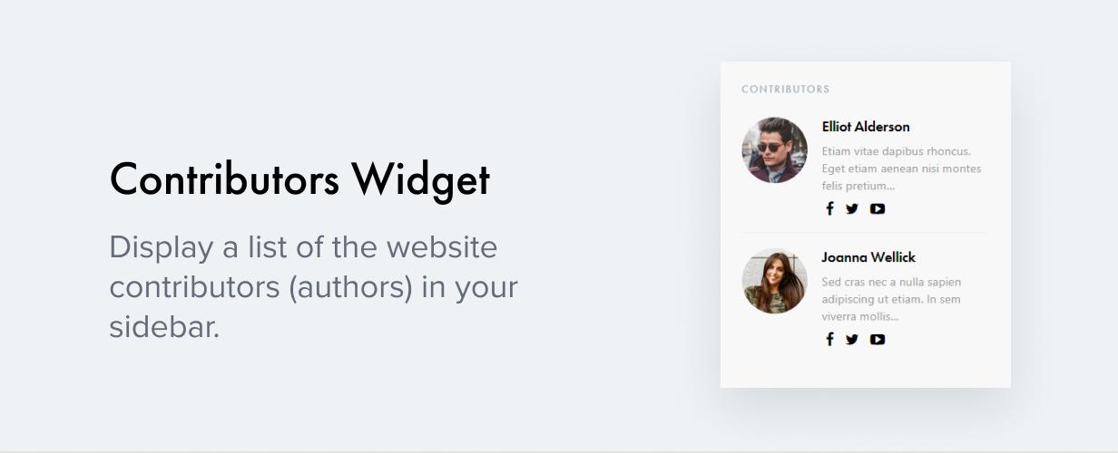 Contributors Widget
