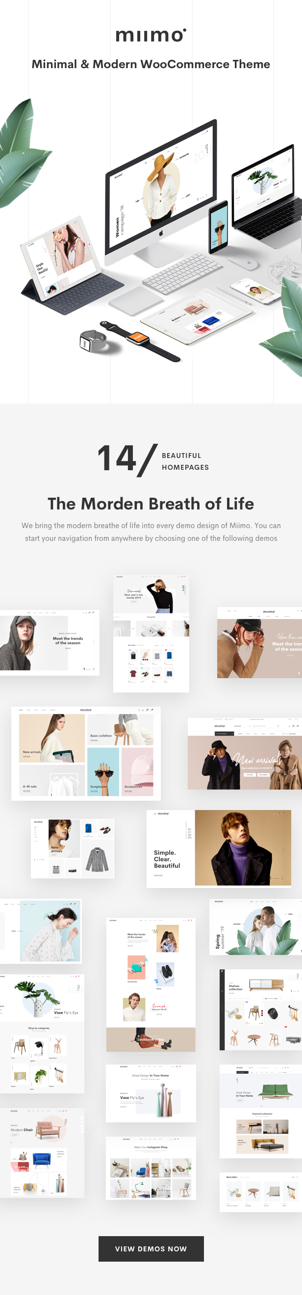 Minimal WooCommerce Shop WordPress Theme - Modern Design Homepages