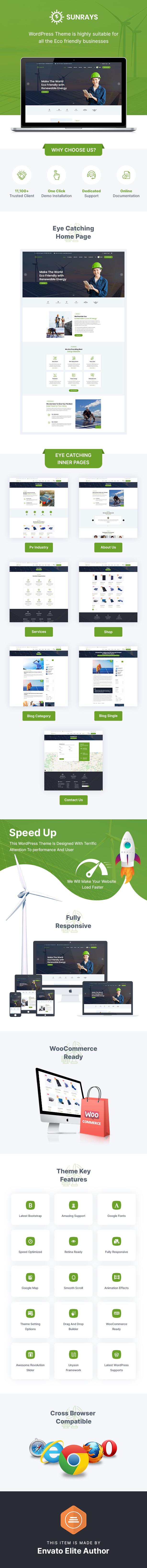 Sunrays – Solar Power & Green Energy WordPress theme - 1