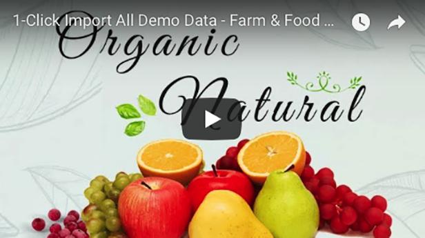 Farm & Food Business WordPress Theme